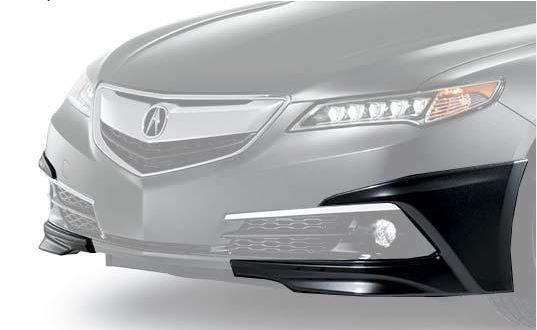 Under-body Spoiler - Front-Crystal Black Pearl
