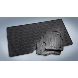 Floor Liner, Tray Style, Ebony, 3-Piece