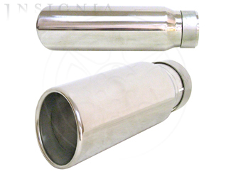 Exhaust Tip, Dual Wall Angle Cut