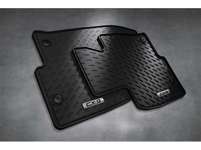 Rubber Floor Mats, 2016-2019 CX-9 All-Weather (Front Set only)