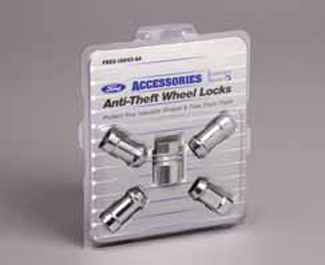 Wheel Locks, Chrome For Exposed Lugs - Ford (7T4Z-1A043-A)