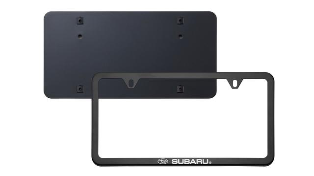 License Plate Frame, Slim Line, Matte Black