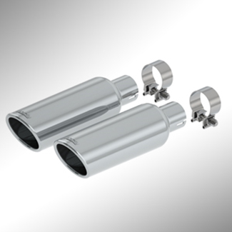 Performance Exhaust Tip By Borla(R), Bright Chrome