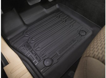 OEM NEW 15-18 Ford F-150 Crew Cab TRAY Floor Mat Kit BLACK Rubber All Weather - Ford (HL3Z-1613300-AA)