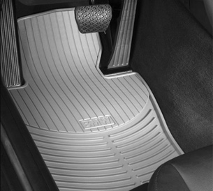 All Weather Rubber Floor Mats - Front - Gray