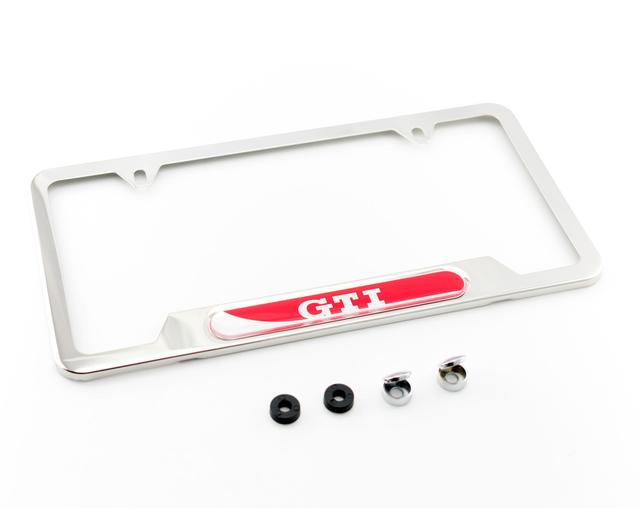 License Plate Frame - Gti - Polished