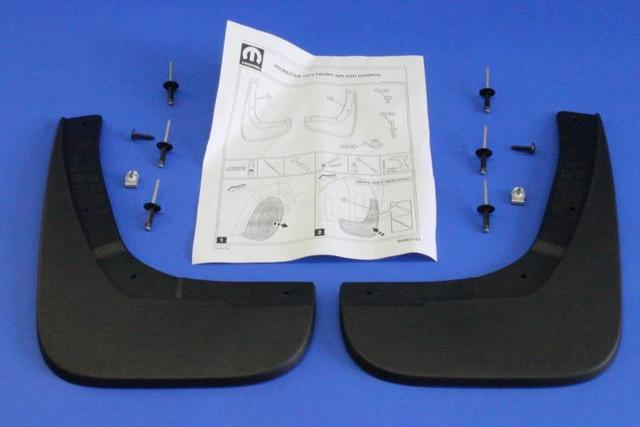 Splash Guards, Molded, Front - Mopar (82214342AB)