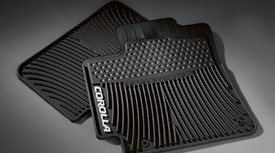 2-piece All Weather Floor Mats Black Cor