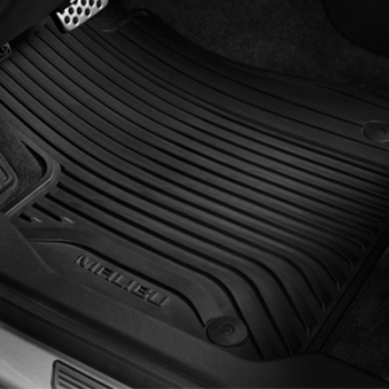 GM Accessories 25795457 Front and Rear Carpeted Floor Mats in Ebony General Motors