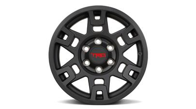 Toyota 17-Inch TRD PRO Wheels in Matte Black for 4Runner, FJ Cruiser, Tacoma OEM PTR20-35110-BK - Toyota (PTR20-35110-BK)