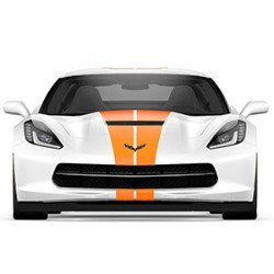 CORVETTE COUPE ORANGE FULL LENGTH DUAL RACING STRIPE PACKAGE - GM (23172539)