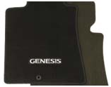 2008-2014 Genesis Black Carpet Floor Mat (4 door)