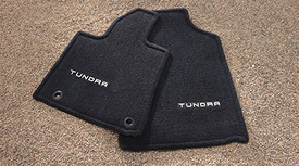 Floor Mats, Carpet, Tundra Logo, Front Set
