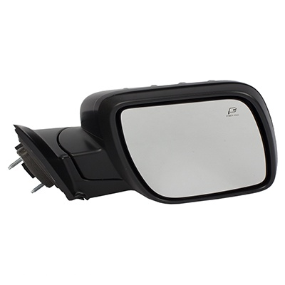 Fo Partslink FO1320553 2016-2017 Ford Explorer Driver Side Power Door Mirror; With Blind Spot Mirror; Textured Cover; Without Police Package; Flat Glass