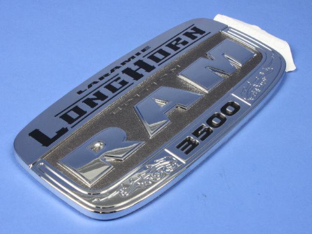 Dodge Ram 3500 Right Laramie Longhorn Edition Badge Nameplate 68086888AA Mopar