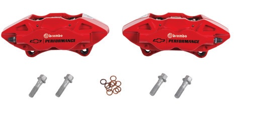 Rear 4-Piston Brembo(R) Brake Calipers In Red - GM (84300395)