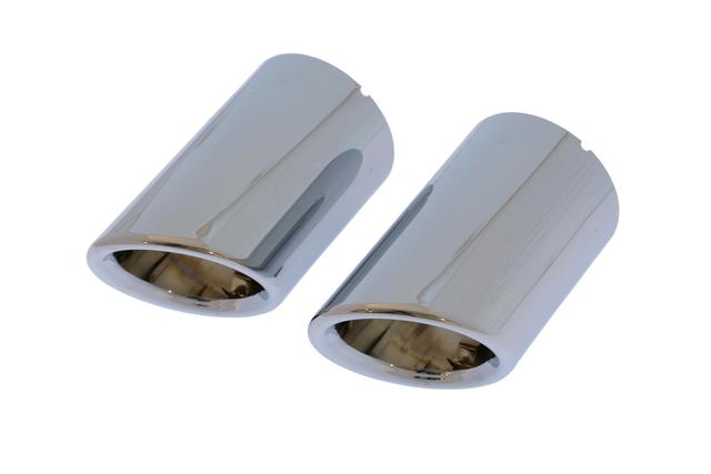 Exhaust Tips - Polished Metal - Volkswagen (5C6-071-911)