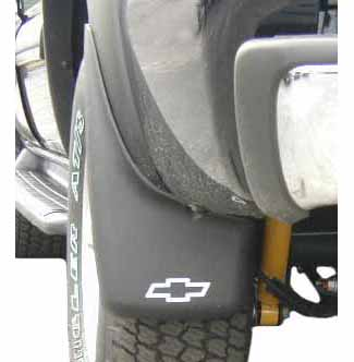 MUD GUARD REAR (USE ON VEHICLES WITH FENDER FLARES)