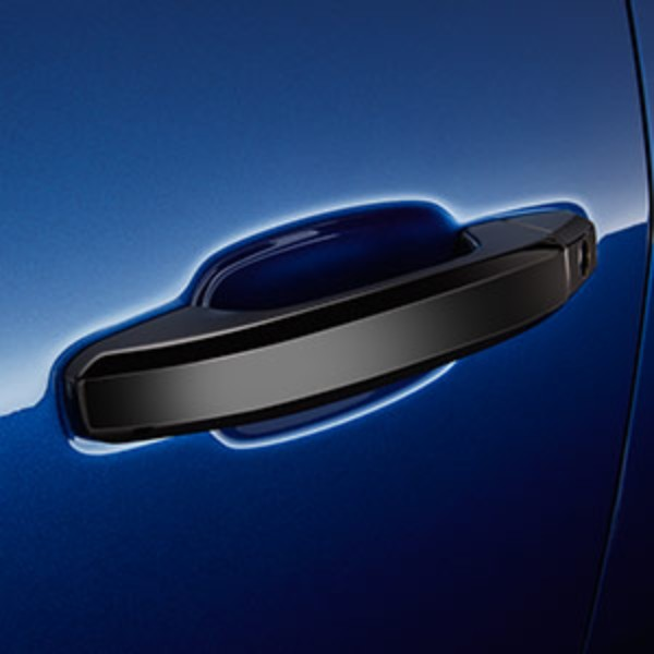 Front and Rear Door Handles in Black