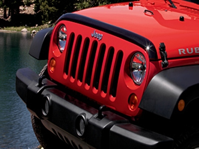 Front Air Deflector - Tinted- With Jeep Logo - Mopar (82210277AB)
