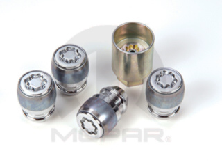 Wheel Locks - One Piece - W/ Exposed Lug Nuts
