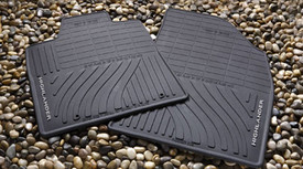2PC All Weather Mats Black Front Handler
