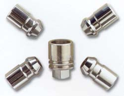 Wheel Lock & Lug Nut Kit, Chrome
