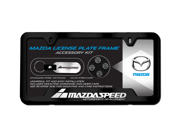 License Plate Frame Gift Set, Mazdaspeed