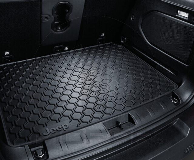 Molded Black Cargo Tray - Jeep Logo