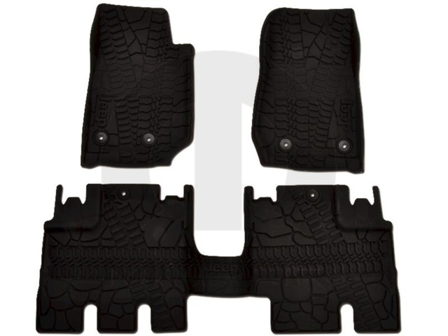 All-Weather Floor Mats - Front - Black