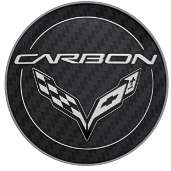 Wheel Center Caps, Carbon Logo - GM (19302357)