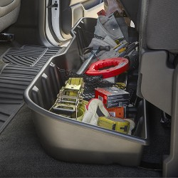 REAR UNDERSEAT STORAGE ORGANIZER, EBONY, CREW CAB