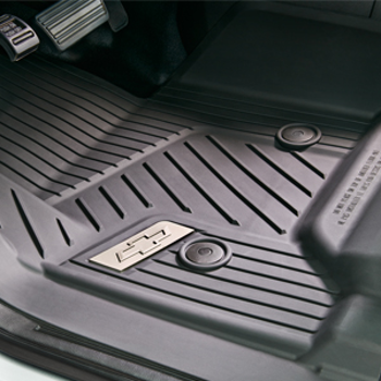Floor Liner, All Weather, Front, Black