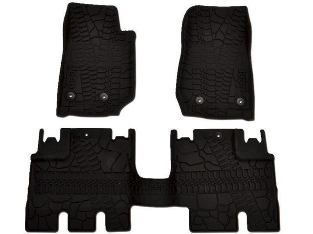 Floor Mats, Jeep Logo, Slush - Mopar (82213886)