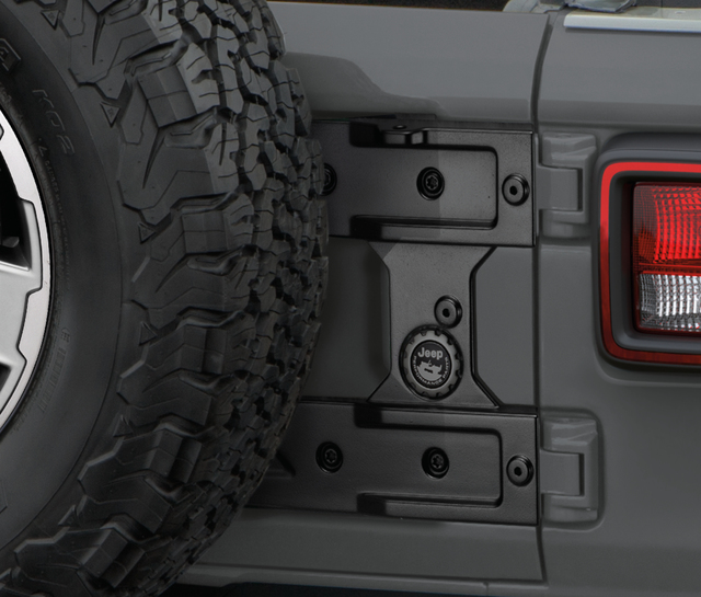 Jeep Wrangler JL Tailgate Reinforcement for Oversize Spare Tire Carrier - Mopar OEM - Mopar (82215356AB)