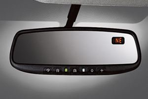 Auto-Dimming Rear View Mirror With Homelink