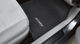Set of Black Carpet Floor Mats with Camry Logo