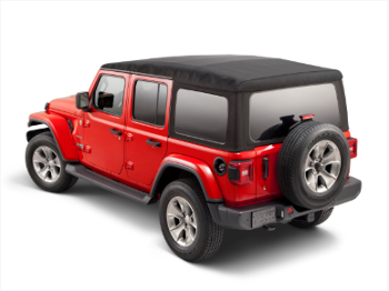 2018-2020 Jeep Wrangler JL Soft Top Kit Sailcloth Tinted Windows 4 Door 82215805AB Mopar OEM - Mopar (82215805AB)