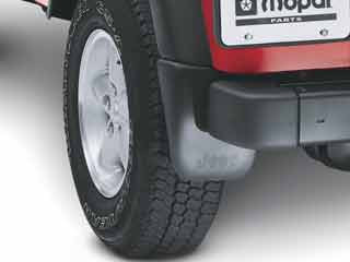 JEEP WRANGLER DELUXE MOLDED SPLASH GUARDS REAR 1997-2006 - Mopar (82202307)