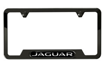 Black Jaguar Photo License Plate