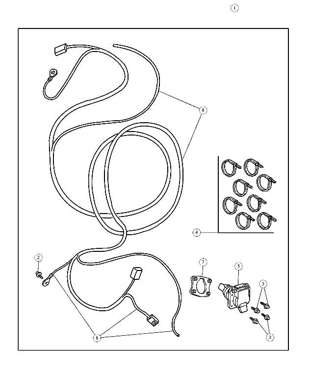 Wiring Kit, Trailer Tow, 7-Way, Connector - Mopar (56038366AB)