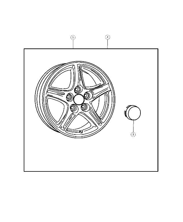 Wheel Kit - Cap, Wheel Center