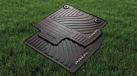 All-Weather Floor Mat, Black - 2pc
