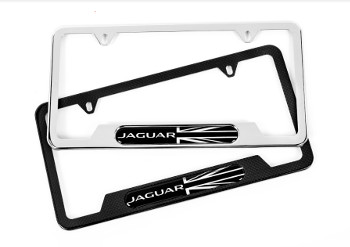 License Plate Frame, Union Jack, Carbon Fibre   Jaguar (C2Z20531)