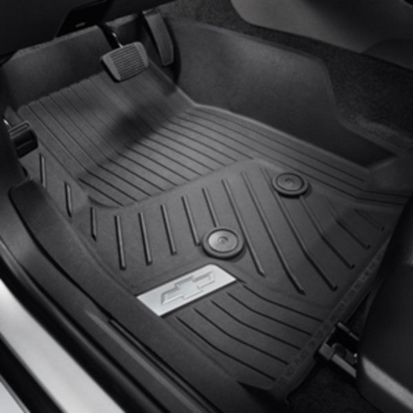 Floor Liners, All-Weather, Front, Satin Logo