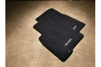Floor Mats, Carpeted, Black