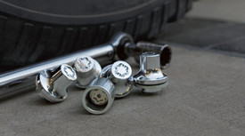 Clear Chrome Wheel Locks