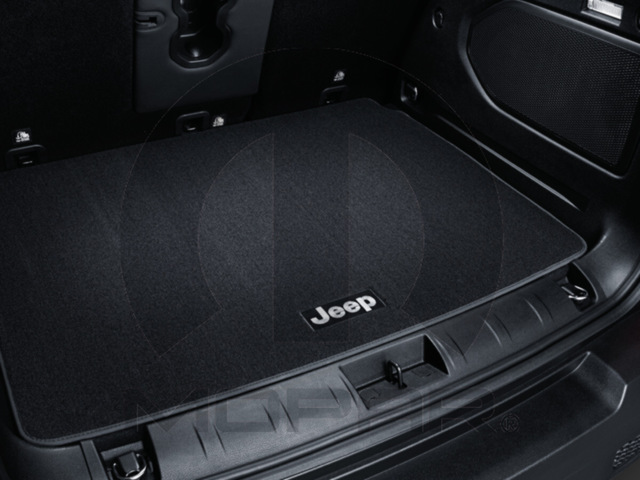Premium Carpet Cargo Mat - Brown - Jeep Logo