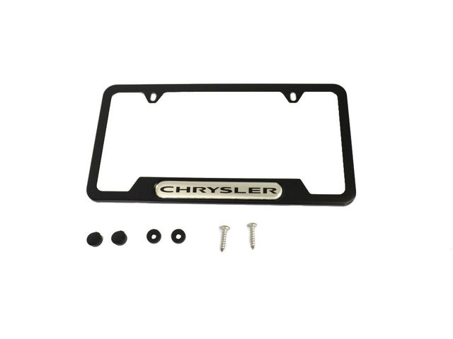 Mopar 82215853 Jeep Logo Black License Plate Frame Set