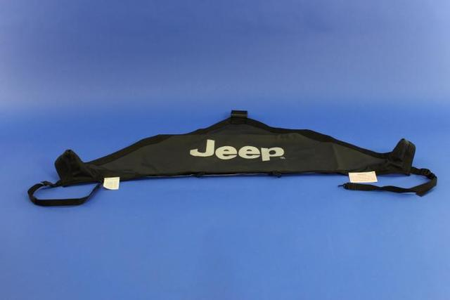 MOPAR Black Hood Cover with Jeep Logo Jeep Wrangler JK - Mopar (82210316)
